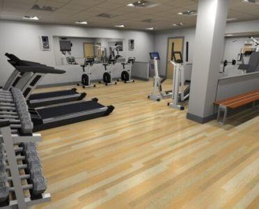 New Gym in Office Block by Damien Henderson