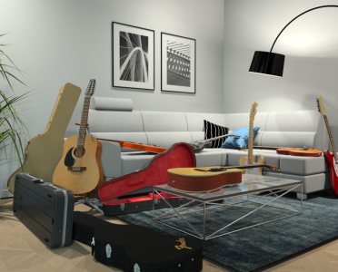 Guitar Mess Room by Mike S