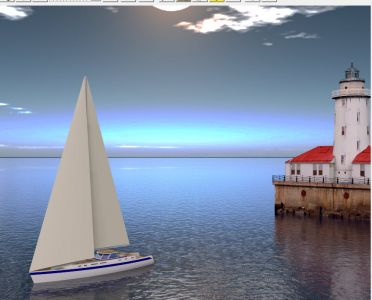Sailboat and Light House